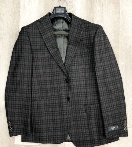 Canaletto Plaid Dark Red/Grey Plaid 48068/1