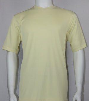 Bassiri S/S V-Neck T-Shirt (Butter)