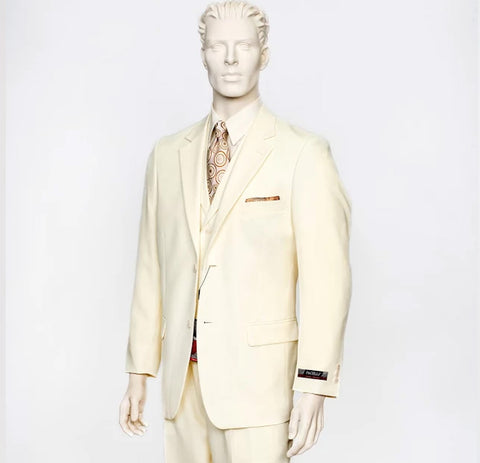Pacelli 3pc Cream Suit CAMERON-10005
