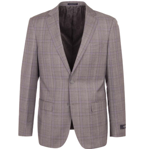 Canaletto Suit Dolcetto CR141607/5 Grey with Lavender Plaid