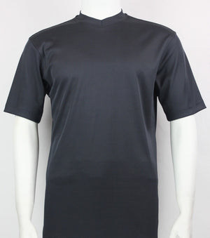 Bassiri S/S V-Neck T-Shirt (Charcoal)