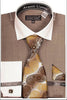 Avanti Uomo French Cuff Dress Shirt DN73M Beige
