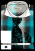 Fratello French Cuff Dress Shirt FRV4119P2 Turquoise