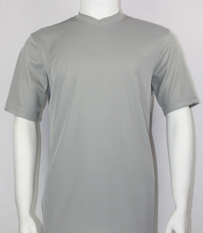 Bassiri S/S V-Neck T-Shirt (Grey)