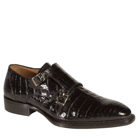Mezlan - PRAGUE Crocodile - Black - Style # 3998-F