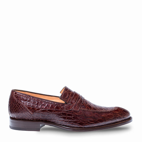 Mezlan - BIXBY Crocodile - Brown - Style # 4366-C
