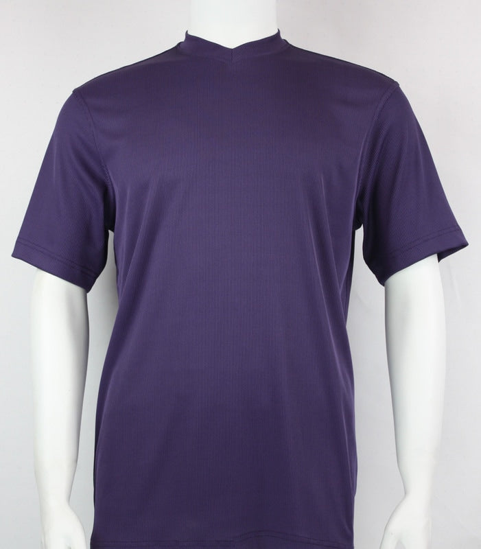 Bassiri S/S V-Neck T-Shirt (Purple)