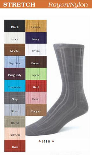Sheer Dress Socks R18