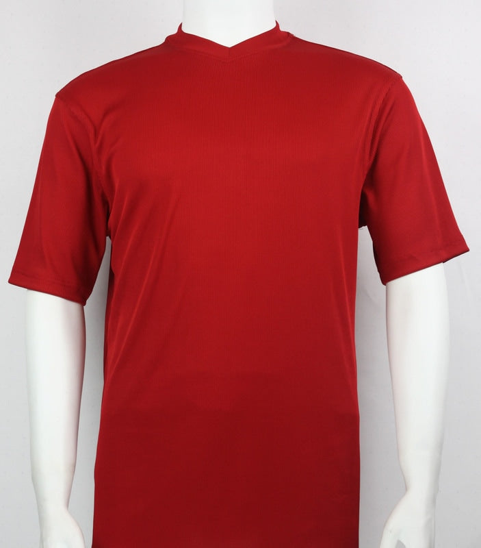 Bassiri S/S V-Neck T-Shirt (Red)