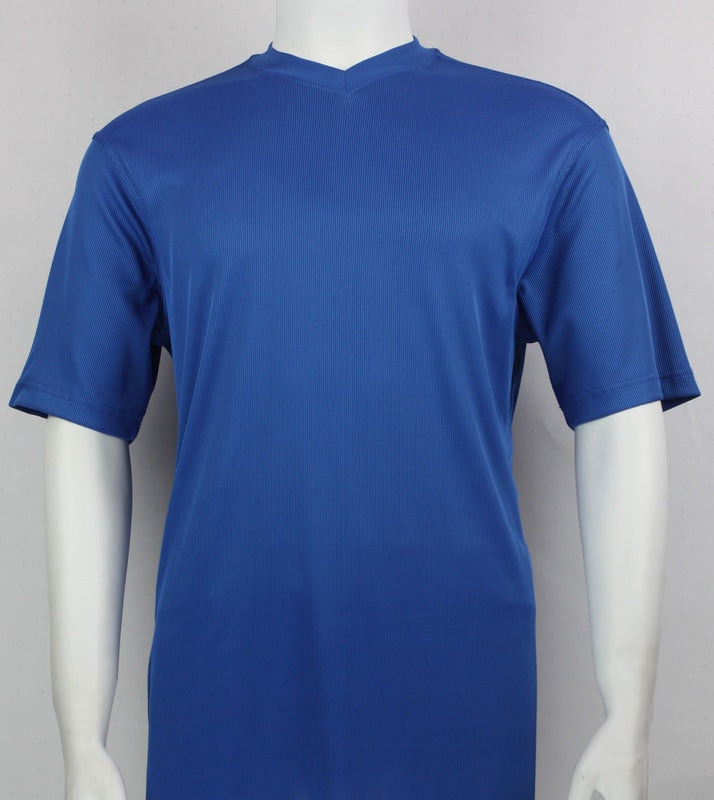 Bassiri S/S V-Neck T-Shirt (Royal)
