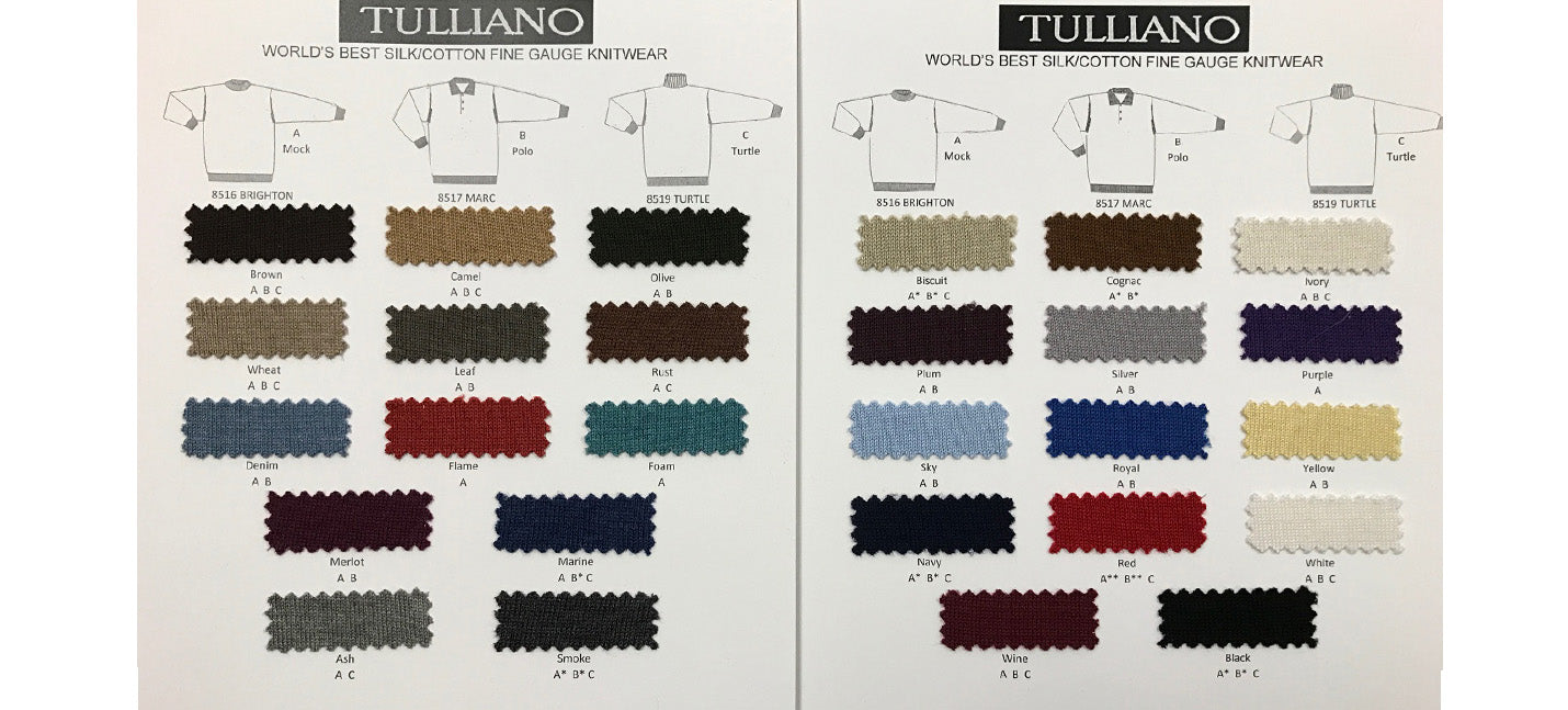 Tulliano L/SL Silk/Cotton Turtleneck (8519)