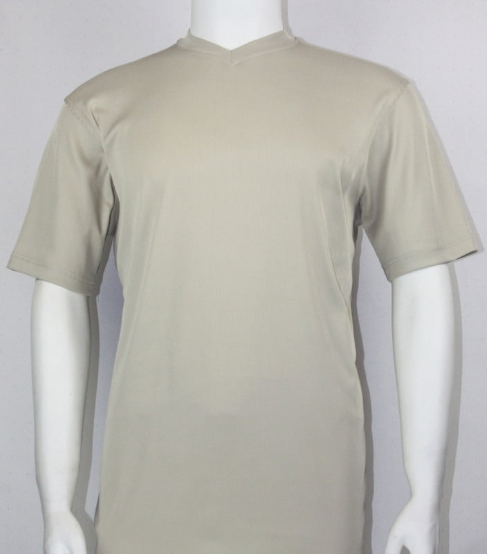 Bassiri S/S V-Neck T-Shirt (Tan)