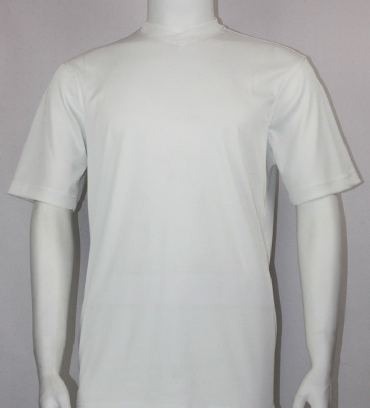 Bassiri S/S V-Neck T-Shirt (White)