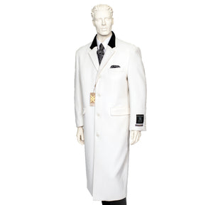 XXIOTTI Cashmere/Wool Overcoat Winter White 77005