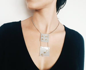 Faux Leather No Dice Necklace