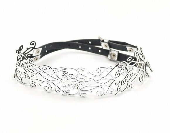 Faux Leather Laser Cut Choker