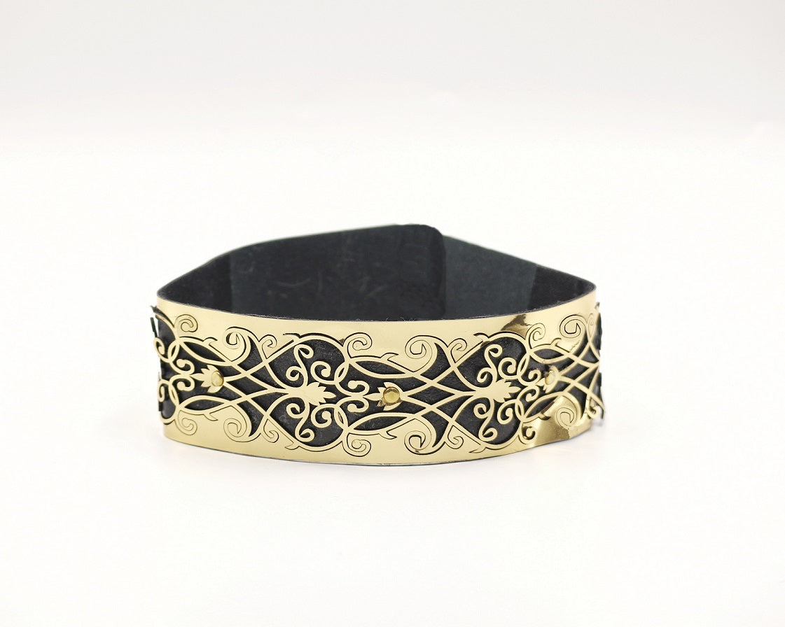 Faux Leather Laser Cut Belt