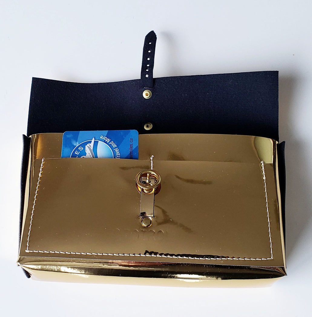 Faux Leather - Gold Ringer Belt Bag