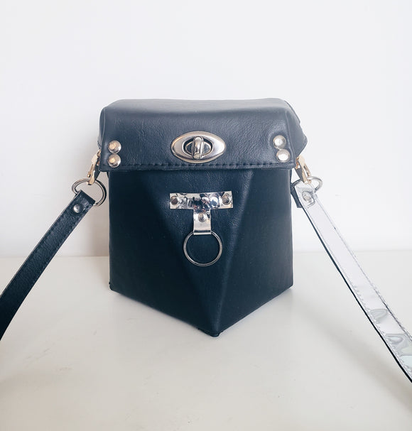 Geometric Bucket Crossbody Bag