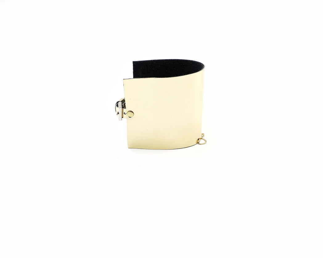 Faux Leather Power Cuff