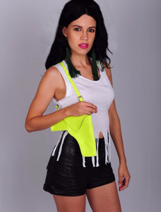 Faux Leather - Neon Yellow Holster Purse - SOLD OUT!