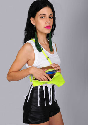 Faux Leather - Neon Yellow Holster Purse