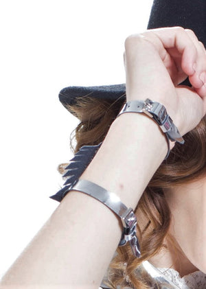 Faux Leather Feather Bracelet