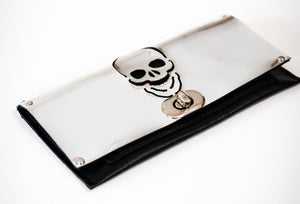 Faux Leather - Skull Clutch