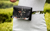 Faux Leather - Flower Belt Bag