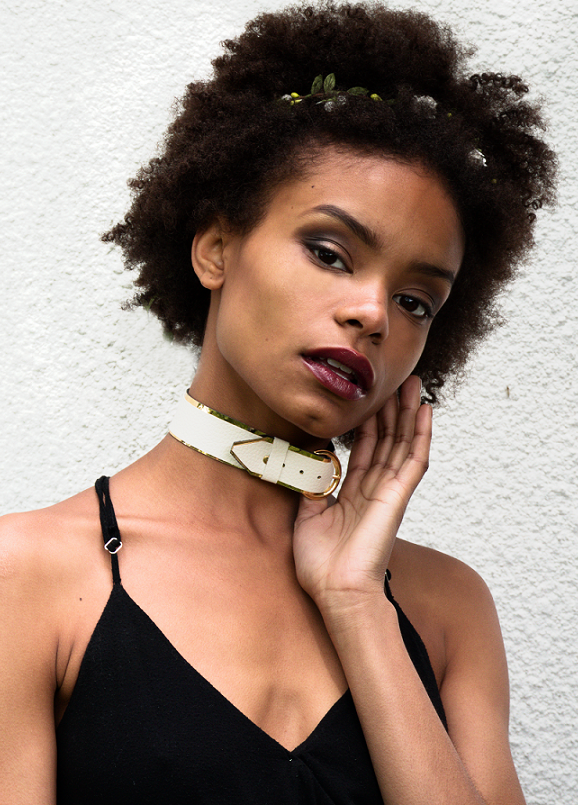 Faux Leather Belt Choker
