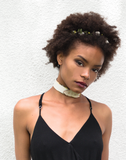 Faux Leather Belt Buckle Choker