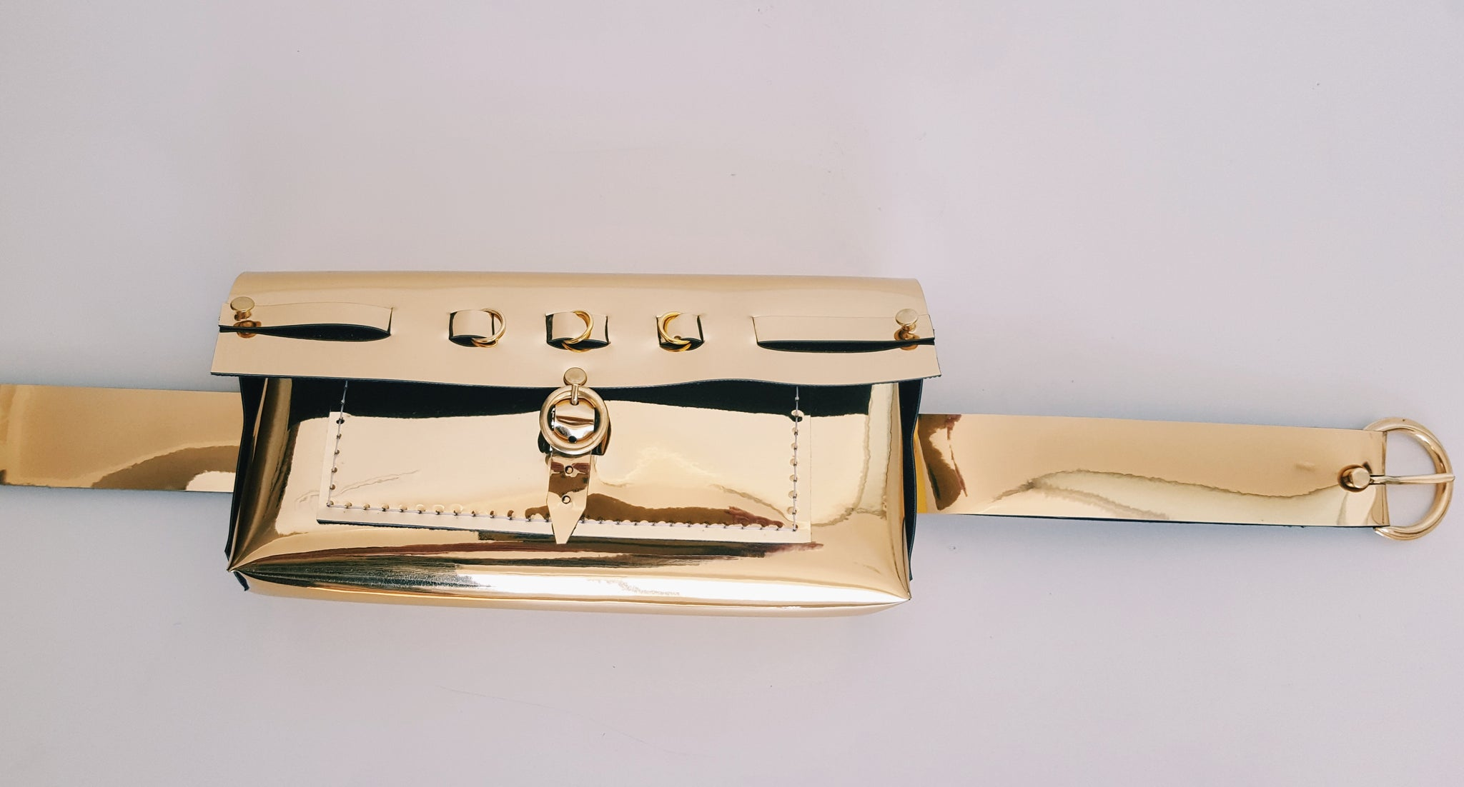 Faux Leather - Boxed Belt Bag