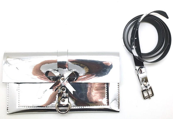 Faux Leather - Bow Belt Bag