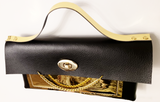 Faux Leather - Chain Clutch