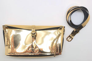 Faux Leather - Chained Belt Bag
