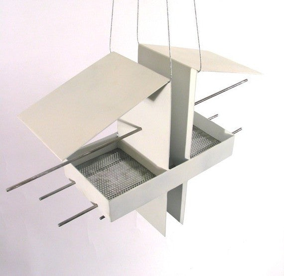Duo Bird Feeder / White