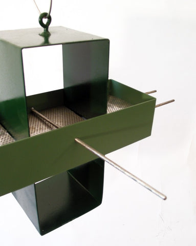 Plus Modern Bird Feeder / Hunter Green and Moss Green