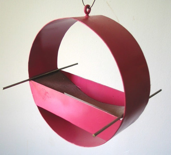 Charm Modern Bird Feeder / Berry Pink
