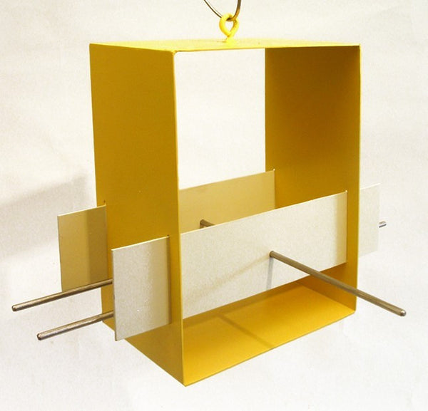 Cubist Modern Bird Feeder / Yellow