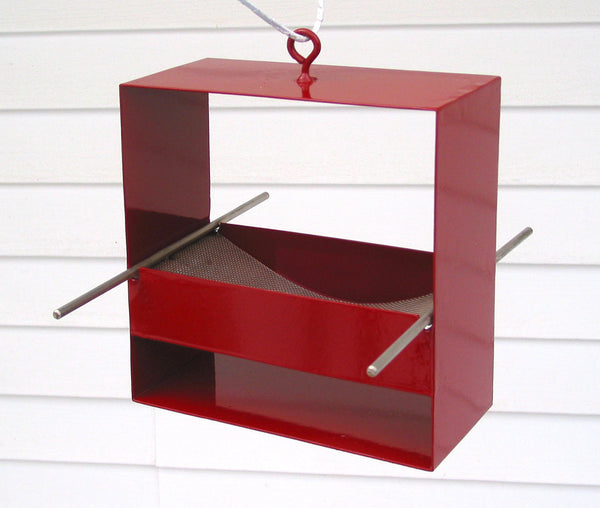 99 Modern Bird Feeder / Deep Red