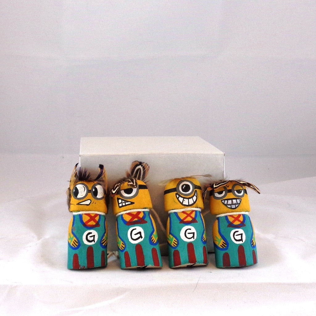 Minions kachina set by Dino Quochytewa