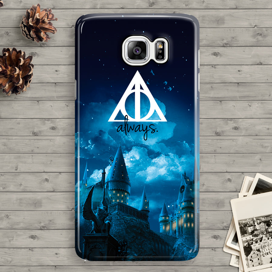 purchase cheap 46792 74881 Details about Harry Potter Hogwarts Quotes Deathly Galaxy Note 3 4 5 Hard  Case
