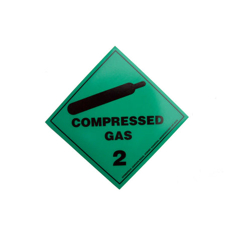 Compressed Gas Sticker Adhesive Backed