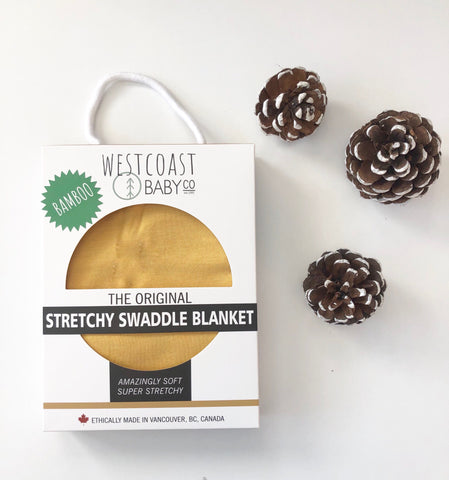 New! Galiano Bamboo Swaddle Blanket - Westcoast Baby