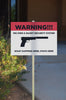 Warning We Own A Silent Security System What Happens Here Stays Here Sign - Gun Right 2nd Amendment Signs