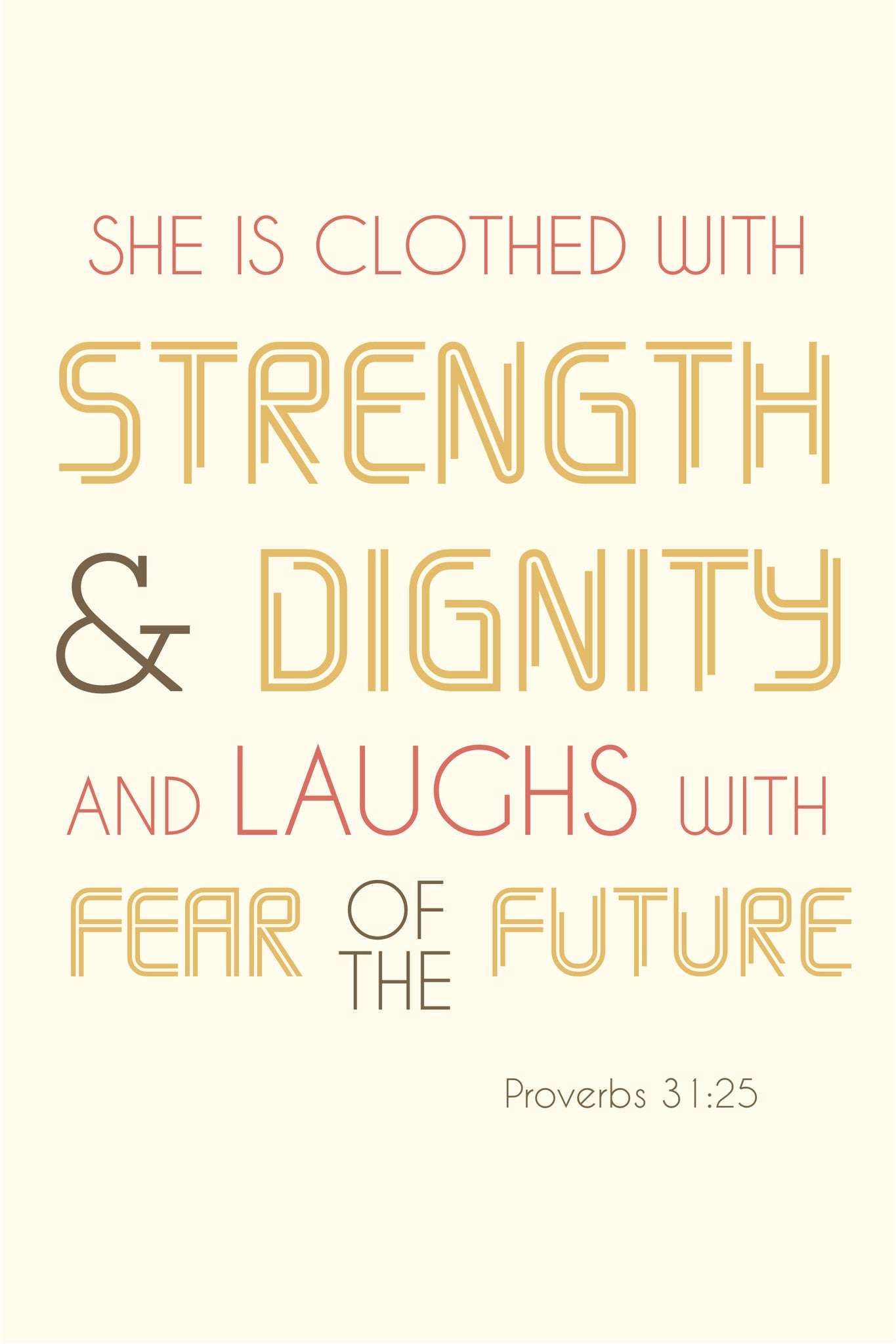 Strength & Dignity Spiritual Sign