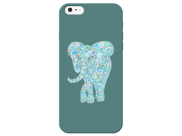 Teal Elephant Swirl Phone Case