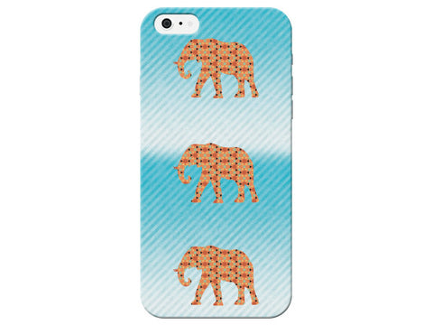 Blue Ombre Elephants Phone Case