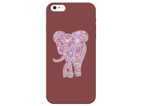 Maroon Elephant Swirl Phone Case