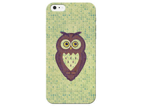 Light Green Dot Owl Phone Case
